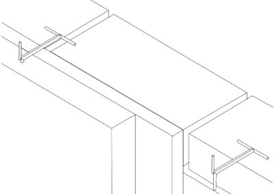 Colocación Garras Z: Anclajes puntuales para fachadas de piedra amorteradas