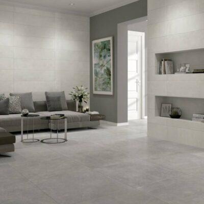 Ambiente Gres Porcelánico Rectificado 25x100 ARW-25100 gris y blanco