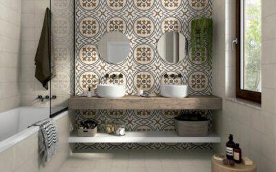 Baños rústicos de gres porcelánico