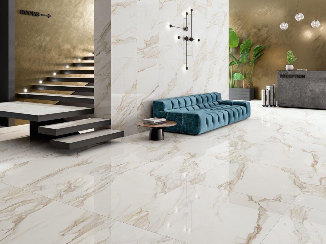 Ambiente Porcelánico Pulido Rectificado 60x120 GOLD-60120P