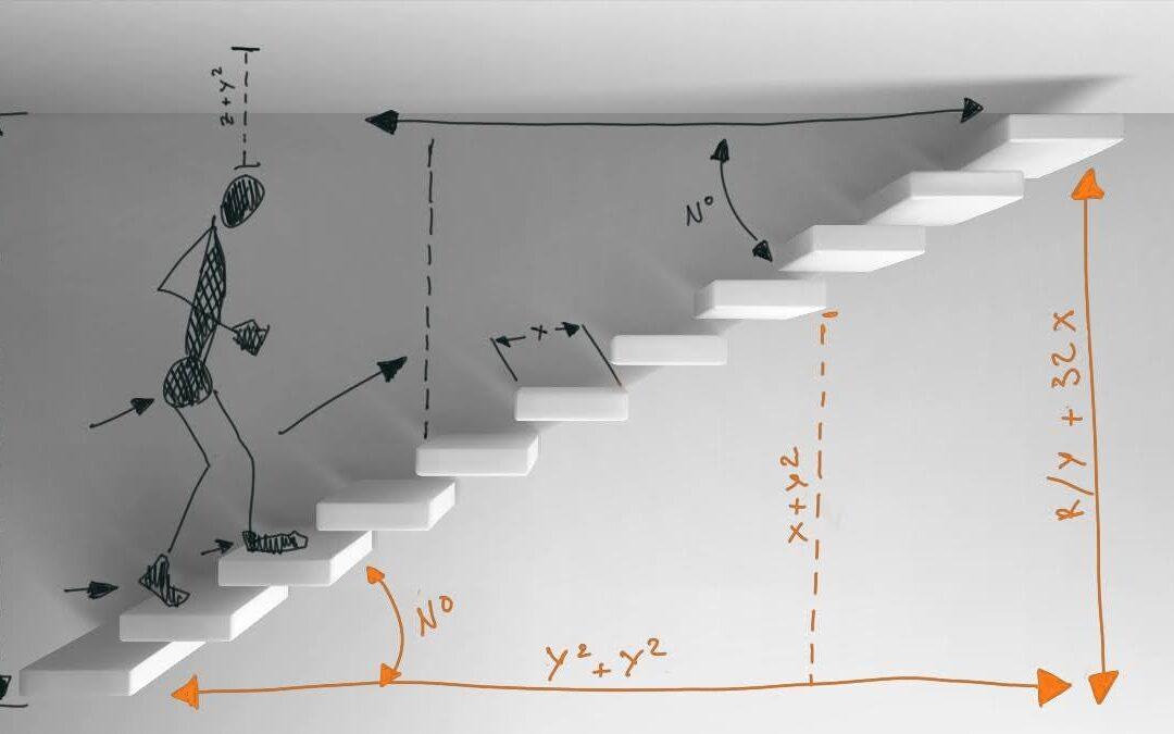 Medidas y partes de una escalera