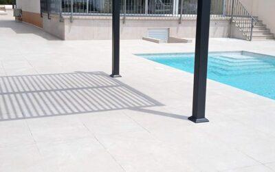 Baldosas para piscinas y terrazas imitación piedra